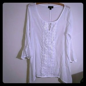 Cal Style white gauzy tunic